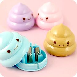 Buy Kawaii Pastel Poop Double Pencil Sharpener at Tofu Cute