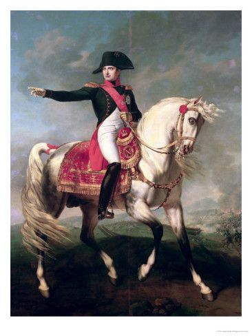 Equestrian Portrait of Napoleon I (1769-1821) 1810 Giclee Print