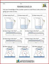 2nd Grade Measurement Worksheets 2a
