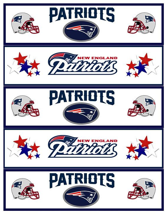 Printable Patriots Football Water Bottle Labels New England