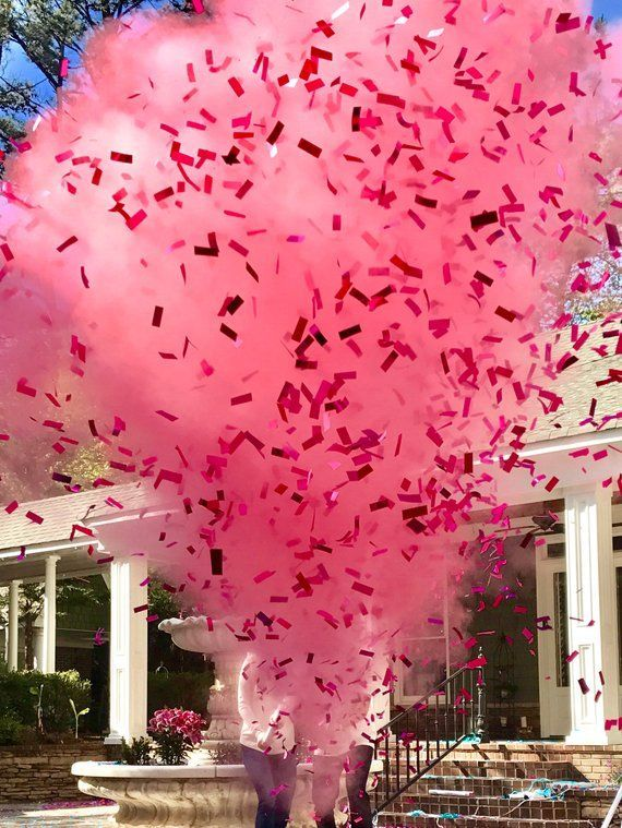 Includes 4 Cannons Gender Reveal Pink Confetti Cannons