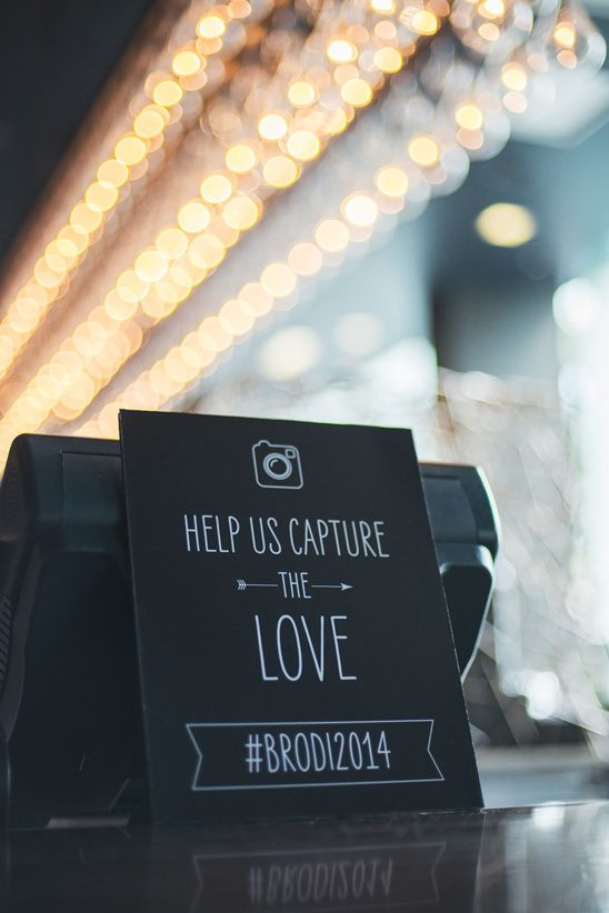 Wedding reception hashtag signs so guests can easily socially share the best moments from your wedding. Cute wedding signs you need. 2017 wedding trends.