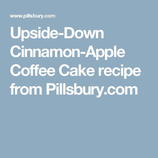 Upside-Down Cinnamon-Apple Coffee Cake recipe from Pillsbury.com