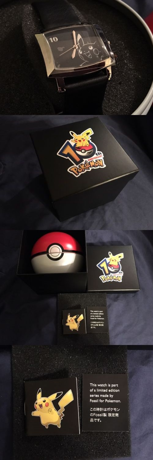 Pok mon 1524: New Pokemon 10Th Anniversary Fossil Brand Watch Collectible Rare Complete In Box -> BUY IT NOW ONLY: $1999.99 on eBay!