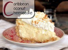 Deze cheesecake is écht hemels. Het combineert de lekkere Caribische kokossmaak…