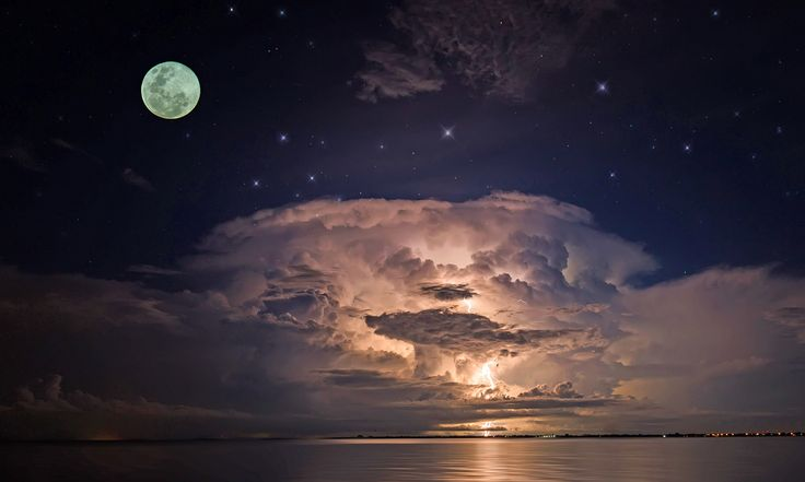 The Full Thunder Moon of 2017 will occur on July 9 at 12:07 a.m. EDT (0407 GMT). Credit: Shutterstock