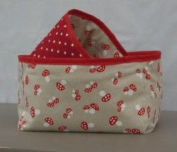 Red Spot and Mushrooms storage baskets, set of 2