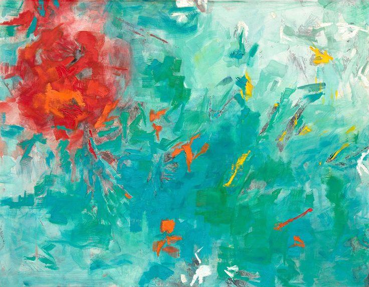 Angela Mena › NUEVA VEGETACIÓN #7 NUEVA VEGETACIÓN Presencia, estado puro, agua,reflejo, luz. Agentes físicos se hacen visibles. Extraordinaria diversidad. Darwin, adaptación al medio. Óleo sobre tela de algodón y tabla / Tamaño: 180x140 cm.