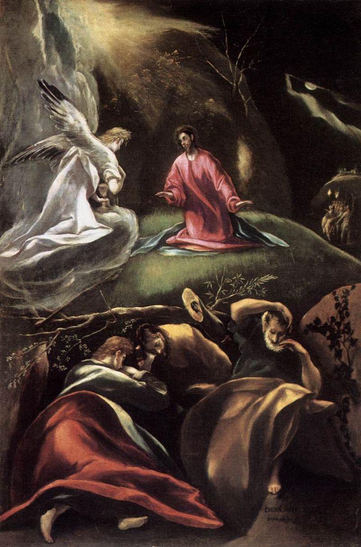 """""""La oración del huerto"""" por El Greco"""