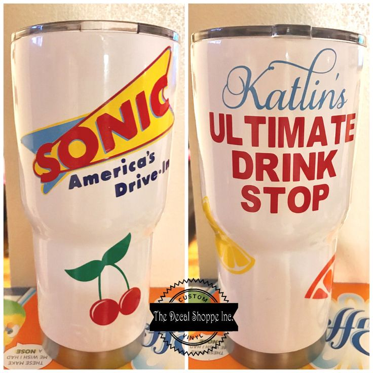 Yeti Decal, Sonic Drive-In Decals, Sonic Decals, Ultimate Drink Stop, Yeti Tumbler Decal, Personalized Decal, Custom Rtic Cup by TheDecalShoppeInc on Etsy https://www.etsy.com/listing/512242359/yeti-decal-sonic-drive-in-decals-sonic