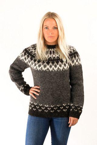 Skipper Wool Pullover Grey - Icelandic Sweaters - Wool Sweaters