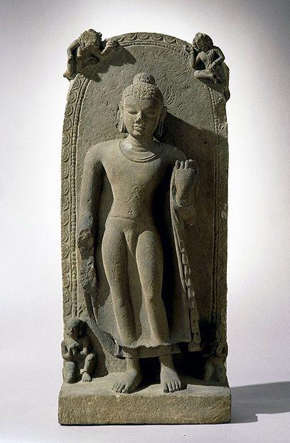 Standing Buddha. India, Gupta period, late 5th century. Sandstone. London, British Museum.