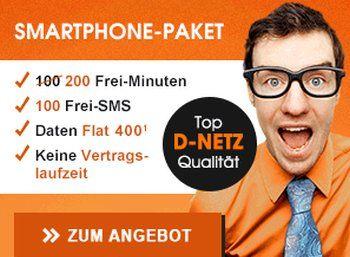 """Callmobile: 200 Minuten, 100 SMS und 400 MByte im Vodafone-Netz für 4,95 Euro https://www.discountfan.de/artikel/tablets_und_handys/callmobile-200-minuten-100-sms-und-400-mbyte-im-vodafone-netz-fuer-495-euro.php Mit """"Cleversmart 400"""" bietet Callmobile noch bis Montag wieder einen attraktiven Tarif im Vodafone-Netz an: Der monatlich kündbare Tarif ohne Anschlussgebühr enthält 200 Freiminuten in alle deutschen Netze, 100 Frei-SMS und 400 MByte. Kostenpunkt: 4,"""