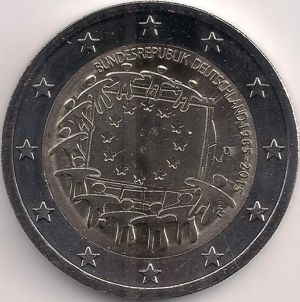 Motivseite: Münze-Europa-Mitteleuropa-Deutschland-Euro-2.00-2015-EU-Flagge