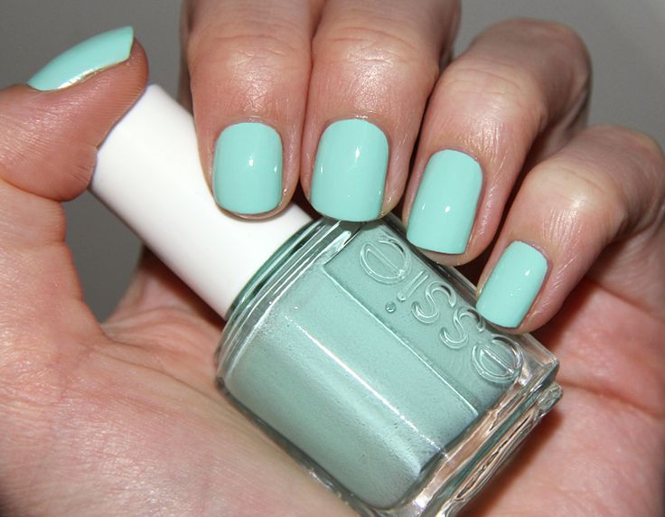 Recreate this look virtually on your own nails! http://itunes.apple.com/us/app/virtual-nail-salon/id452836664?mt=8: Nail Polish, Colors, Makeup, Nailpolish, Essie Than, Nails, Products, Mint Candy Apples