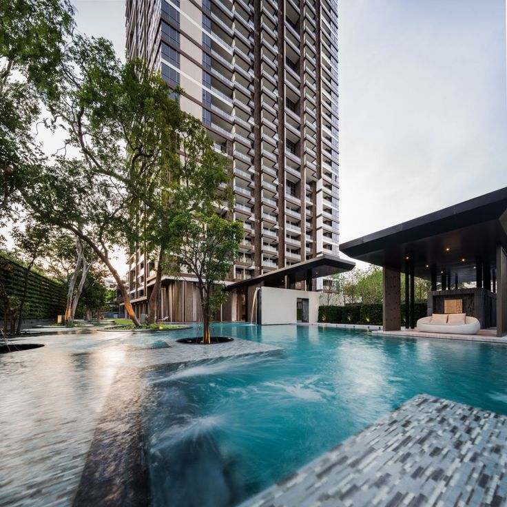 Baan Plai Haad is a sea-side condominium in Pattaya by Sansiri. TROP design the landscape. Steven J. Leach, Jr. + Asso ciates Limited (SL+A) is the architect. Photography team » W Workspace Photogr…