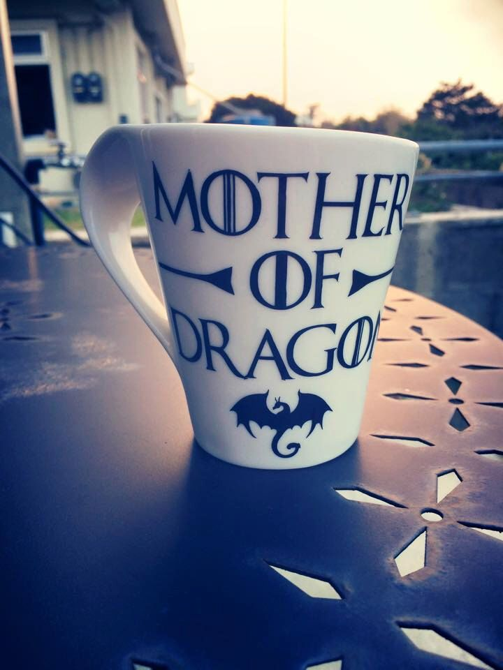 Game of Thrones Coffee Mug by StickEmUpVinylOki on Etsy https://www.etsy.com/listing/216620712/game-of-thrones-coffee-mug