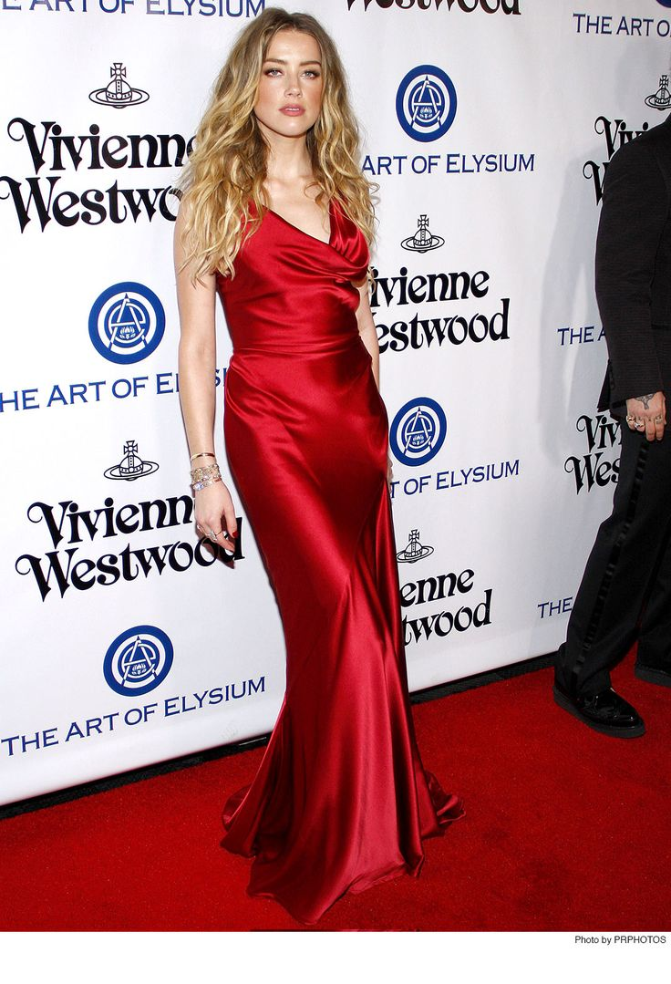 Amber Heard wearing Vivienne Westwood Red Dress - 2016 The Art Of Elysium Heaven Gala