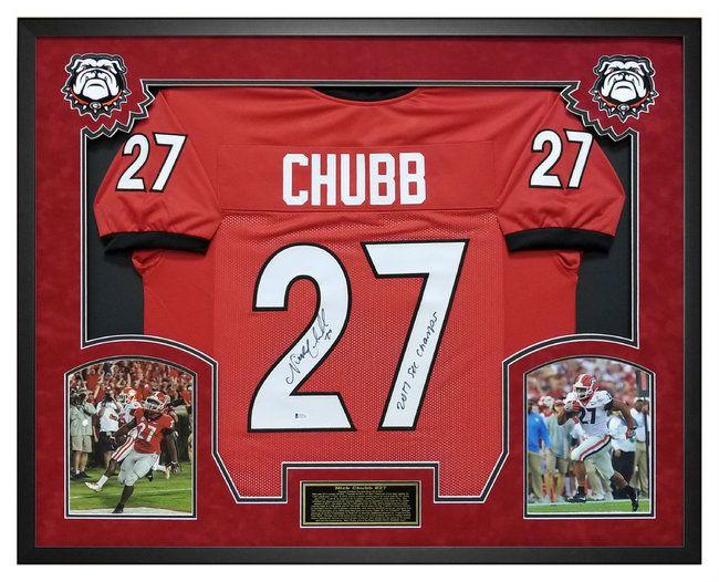 nick chubb georgia bulldog jersey