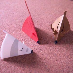 Cute animal shaped 3D mini card by MARUAI (Japan)
