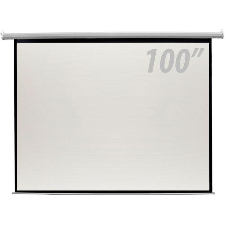 Tela de Projeção 100pol Elétrica c/ Controle Remoto CSR -Informática - Projetores e Acessórios - Walmart.com