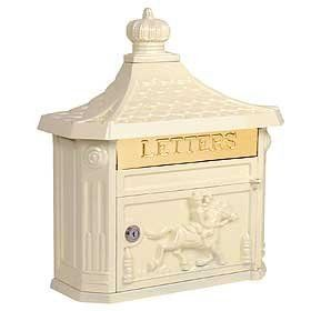 Architectural 4460 Green VICTORIAN MAILBOX by Architectural. $127.46. VICTORIAN MAILBOX-SURFACE MOUNTED-BEIGE. Made of cast aluminum, surface mounted Victorian mailboxes are available in four (4) contemporary colors and include a 10-3/4 W x 2-1/4 H mail flap with the word LETTERS engraved in it. Surface mounted Victori