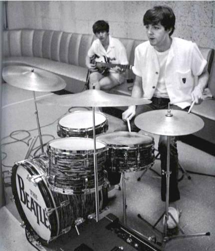 Paul McCartney on the drums, Ringo Starr on bass.