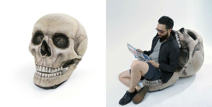 This might look like a giant skull, but open its mouth and it becomes a chair! » Lost At E Minor: For creative people