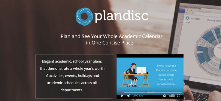 Plan and See Your Whole Academic Calendar in One Concise Place. Start your free trial today. #Plandisc