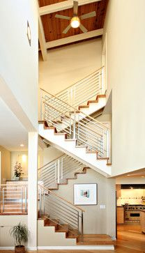 Condo Renovation - contemporary - staircase - los angeles - Synthesis Inc.