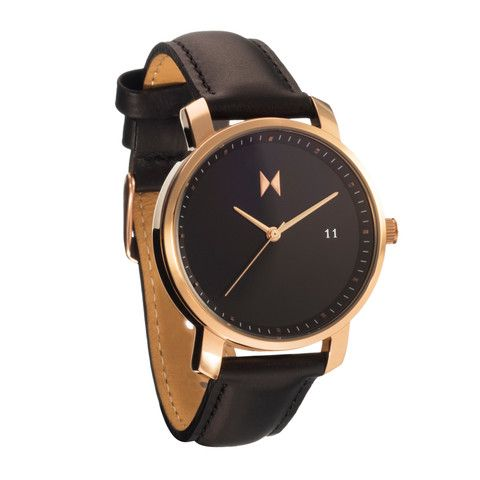 Rose Gold/Black Leather                           | MVMT Watches