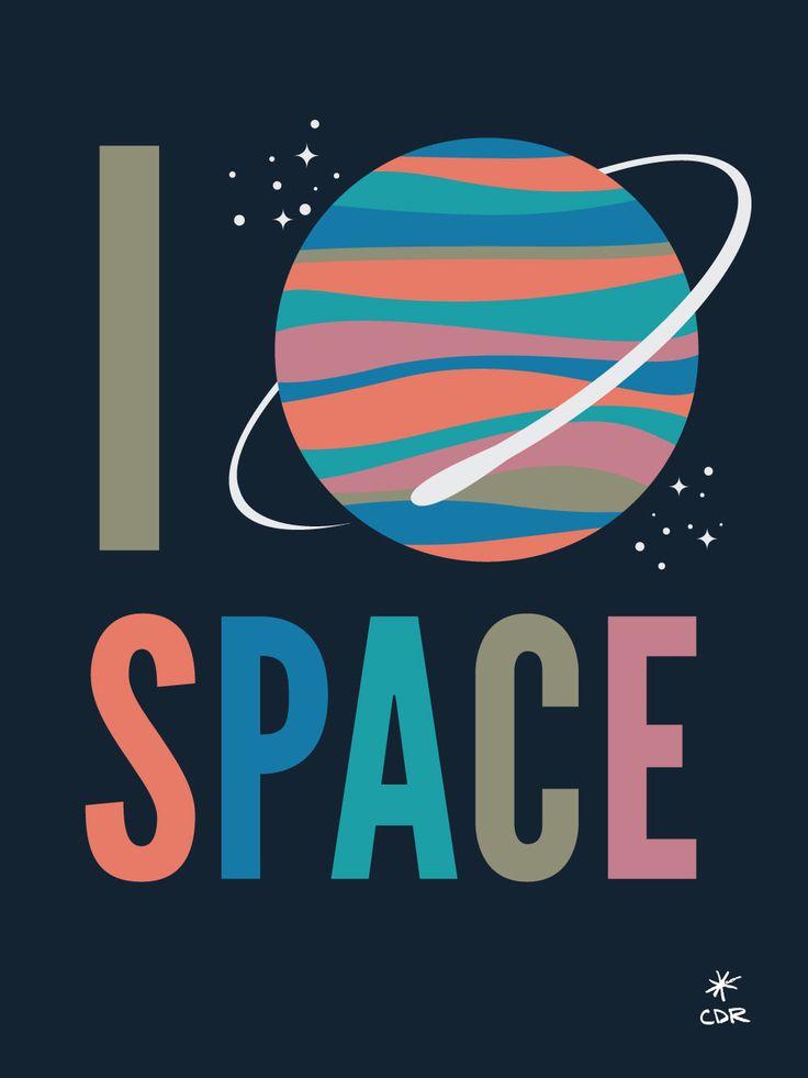 I Love Space Print
