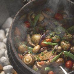Mushroom potjie #vegetarian