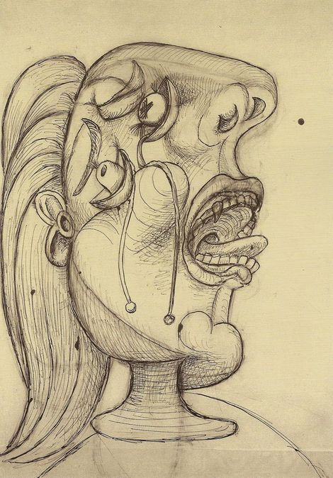 Pablo Picasso, The Weeping Women Etching, Aquatint, and drypoint on ArtStack #pablo-picasso #art