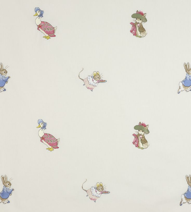 How To Style | Nurseries | Embroidered Beatrix Potter Fabric by Jane Churchill | Jane Clayton