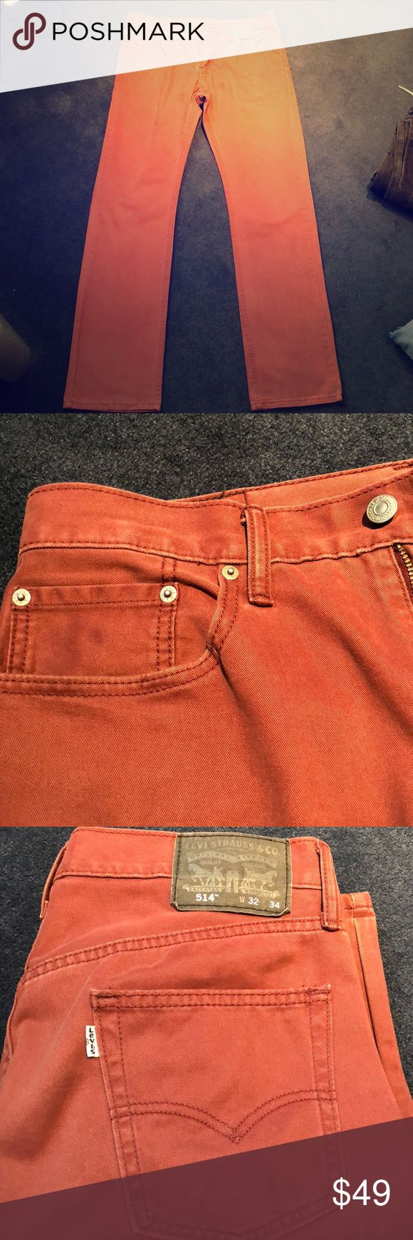 Levi 514 Mens Pants / Jeans - 32x34 - Red / Wine Gently worn - Levi 514 Mens Pants / Jeans - 32x34 - Red / Wine Levi's Pants Chinos & Khakis