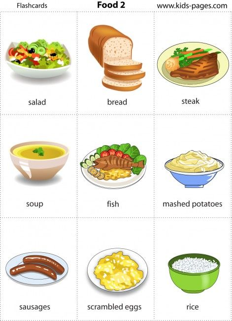 Food Flashcards Printables