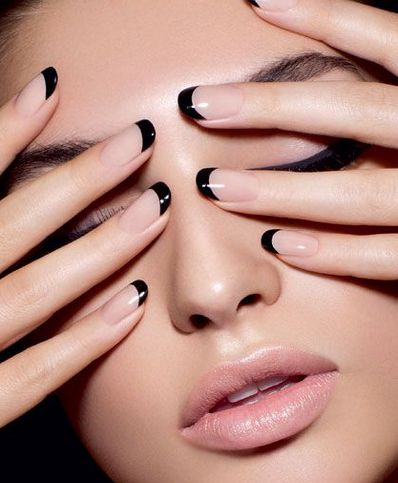 Best 25 black french manicure ideas on pinterest white french make a statement with this french nail tip coated with nude polish as base the nails are then perfectly tipped with black nail polish making the french prinsesfo Choice Image