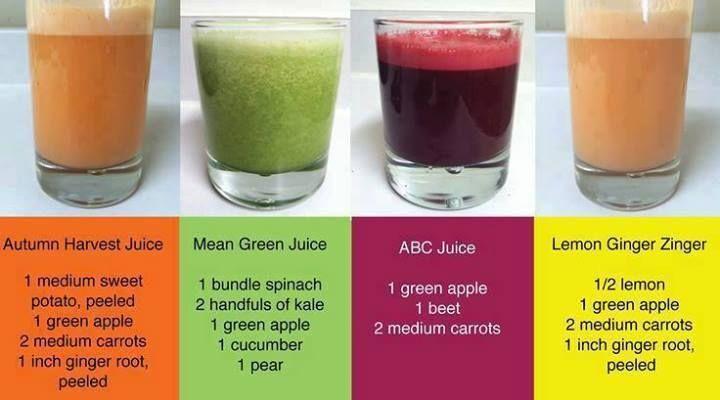 Autumn Harvest Juice, Mean Green Juice, ABC Juice, Lemon Ginger Zinger