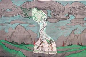 Walter! Escape! Design by Megan Meier for the Laramie Mural Project. #downtownlaramie