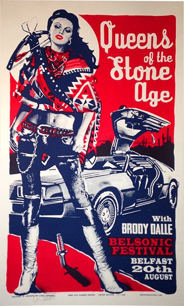 Queens of the stone age #qotsa poster Belsonic Festival Belfast 20th August