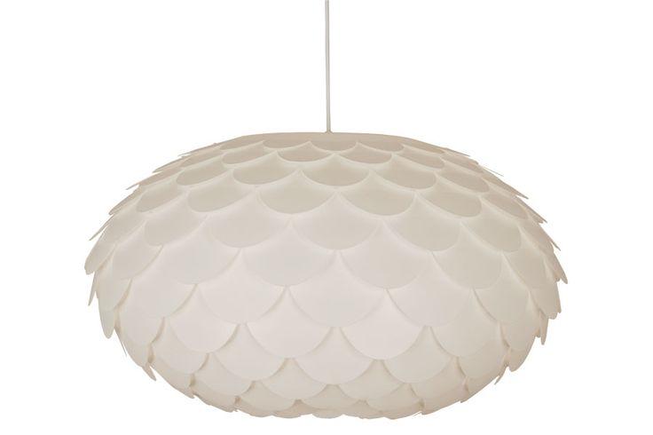 Ø:59cm Hvit, plastlampe