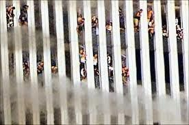 Driven to the brink by fires and scorching temperatures during the 9/11 attacks, people near the top of the World Trade Center's north tower hang from windows as high as 1,300 feet above the streets of New York City. Such images were extremely controversial ten years ago but have since become more accepted—if no less disturbing.