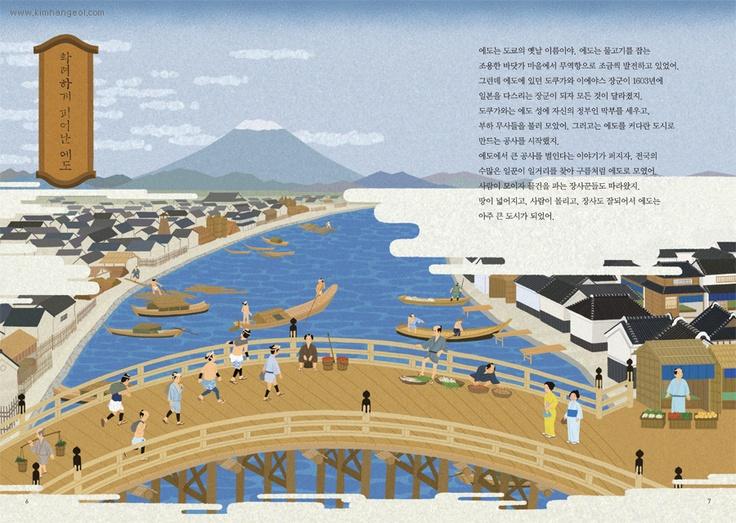 photoshop illust - from Edo to Tokyo