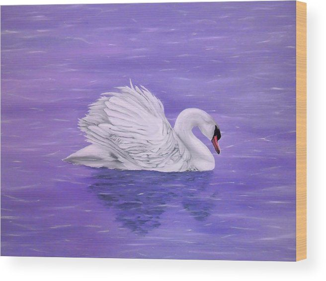 Wood Print,  swan,lake,scene,nature,water,life,dreamlike,fantasylike,big,birds,white,purple,lavender,image,beautiful,fine,oil,painting,contemporary,scenic,modern,virtual,wall,art,beautiful,awesome,cool,artistic,artwork,for,sale,home,office,decor,decoration,decorative,items,ideas