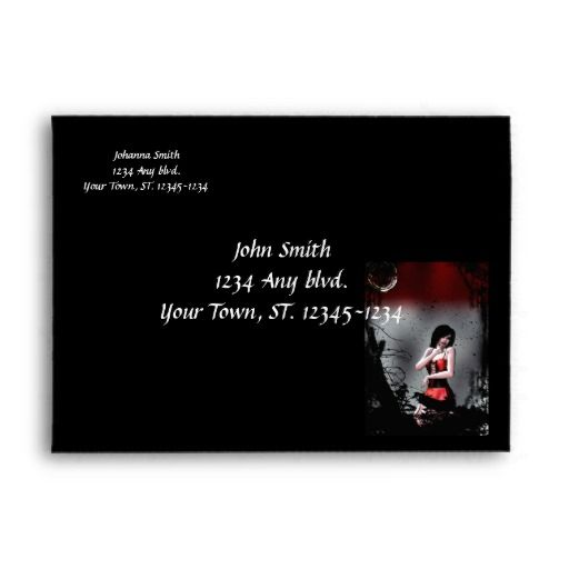 Caught Goth Girl Halloween Envelope