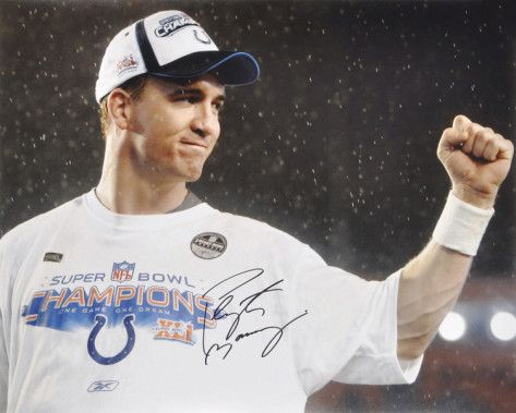 Peyton Manning Indianapolis Colts SB XLI Celebration Autographed Photo ...