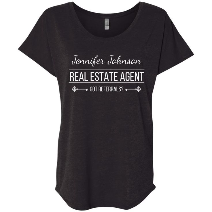 customizable real estate t-shirt.  Customize your name to stand out in a crowd!  Got Referrals?