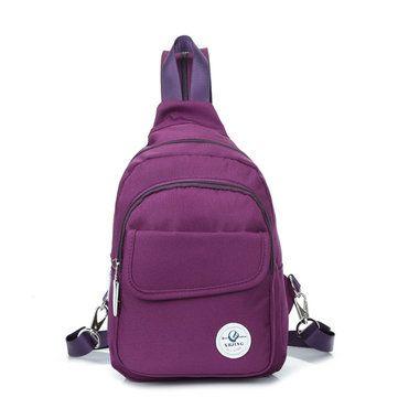 Mutifunctional Women Outdoor Canvas Casual Backpack Crossbody Bag - US$19.91