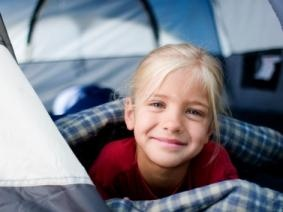 """A """"Campout"""" in the livingroom for when you can't get out for a vacation"""